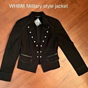 NWT military jacket White House Black Market